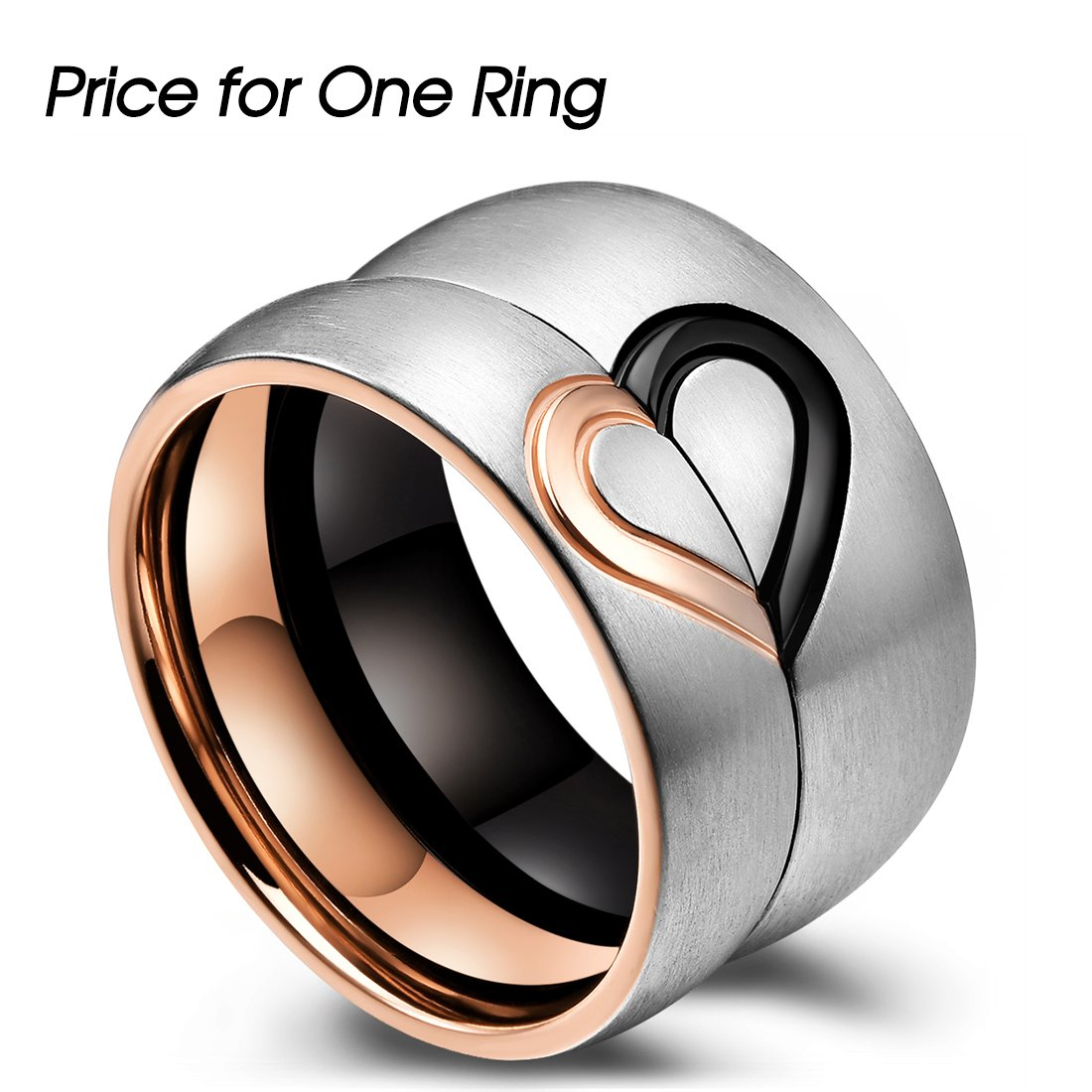 King Will Classic Women\'s Men\'s His & Hers Real Love Heart Promise ...