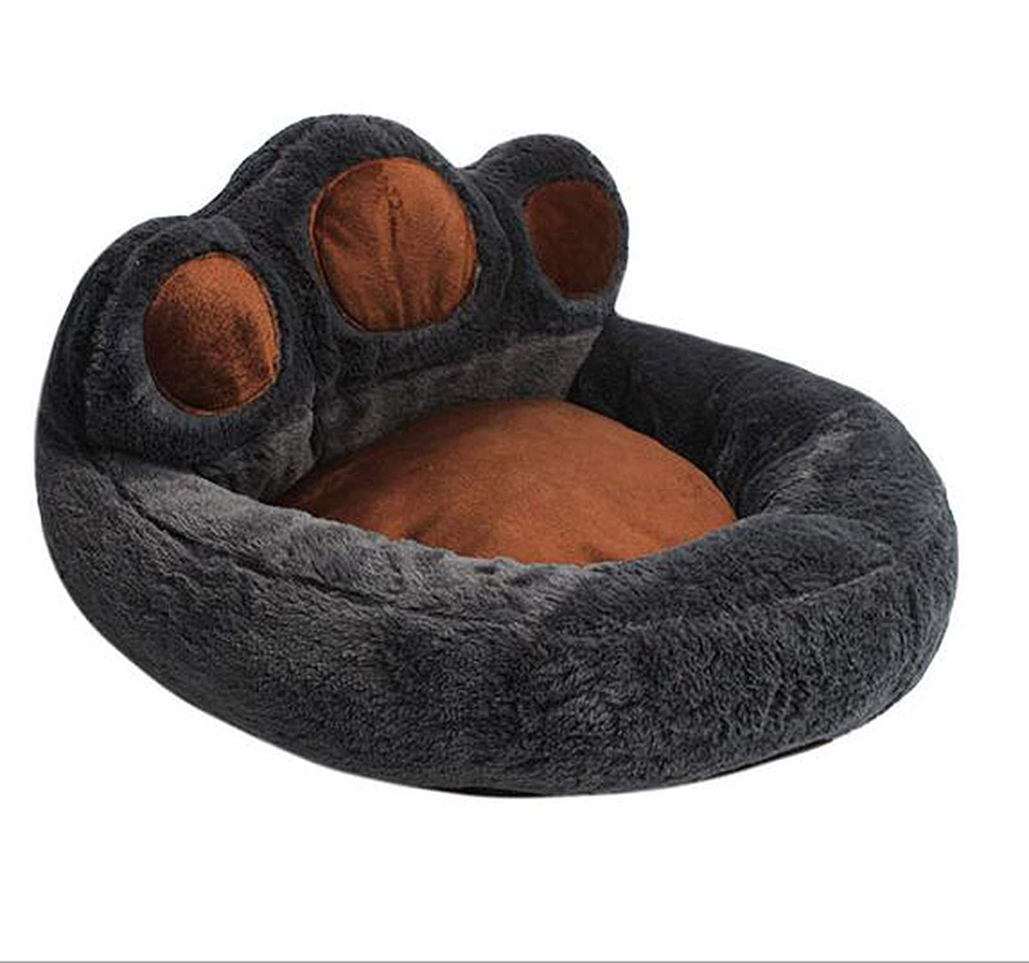 5 L for 10kg(6268cm)Creative Bear Footprint Washable Small Medium Large Luxury Dog Bed Kennel Cozy Soft Warm Pet Puppy Cat Dog House Nest,2,L for 10kg(6268cm)