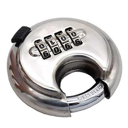 master lock candado de combinación candado de disco con grillete de acero endurecido cerradura de plata