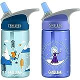 CAMELBAK Eddy Kids 400ml/12oz spill proof water bottle BPA free - Twin pack