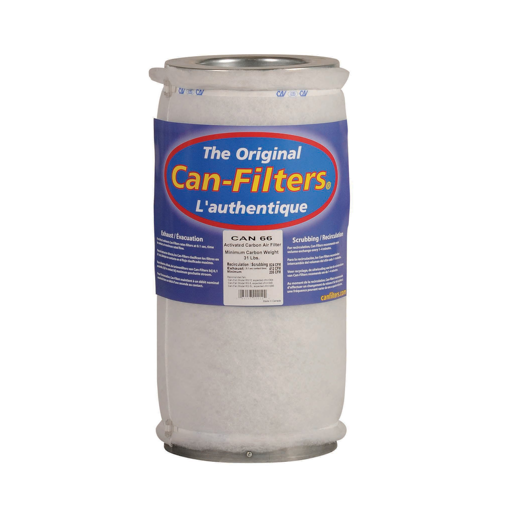Can 66 Carbon Filter with Prefilter, Flange Sold Separately by Can Filter