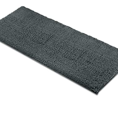 MAYSHINE Bath mat Runners for Bathroom Rugs(47X27.5inch) Long Floor mats Extra Soft Absorbent Thickening Shaggy Microfiber Machine-Washable Perfect for Doormats Tub Shower-Dark Gray