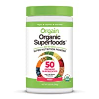 Orgain Organic Green Superfoods Powder, Berry - Antioxidants, 1 Billion Probiotics...