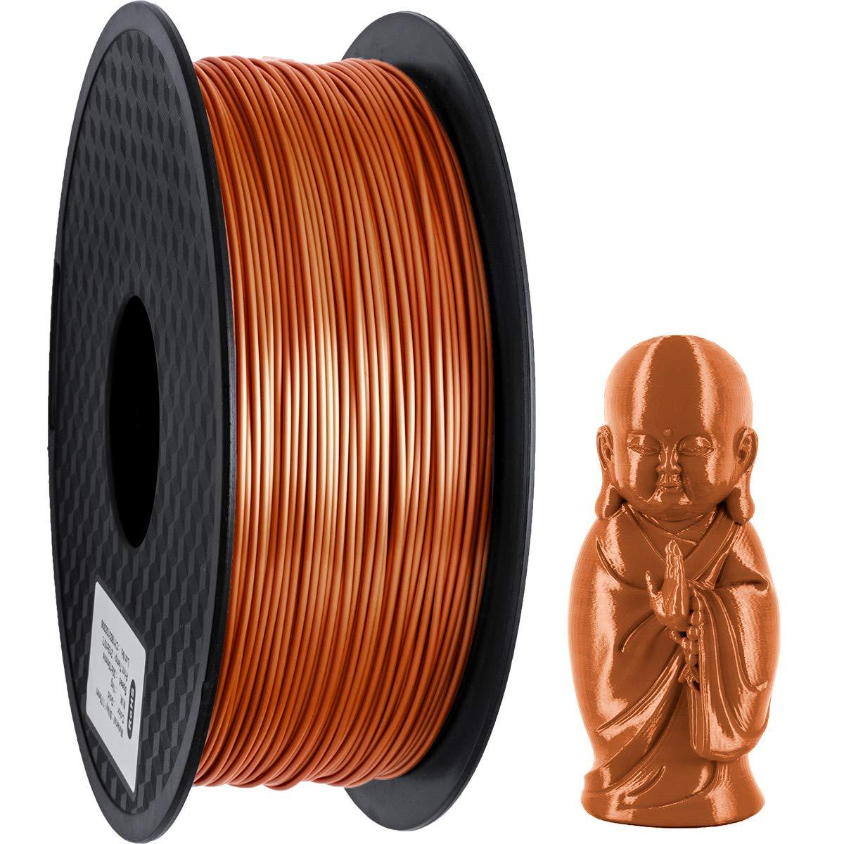 GIANTARM Filament PLA 1.75mm Silk Copper,3D Printer PLA Filament 1kg Spool