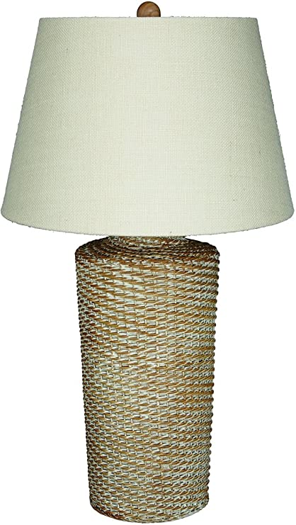 Amazon ashley stefenney rattan table lamp in white wash office ashley stefenney rattan table lamp in white wash aloadofball Images