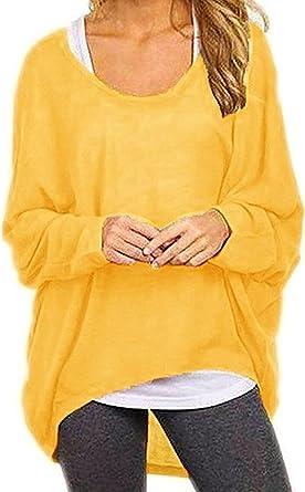 ZANZEA Mujer Camisetas Manga Larga Tallas Grandes Casual Blusas Suelta Tops Estampado Floral Manga de Murci/élago