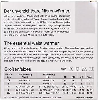 38-40 = M grau melange Kidneykaren Body Tube Basic 95/% Polyamid 5/% Elastane Gr
