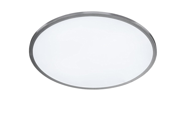 WOFI Deckenleuchte, Aluminium, Integriert, 60 W, Silber, 40 x 40 cm
