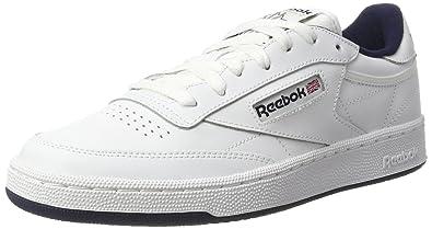 Reebok Club C 85, Sneakers Basses Homme - Blanc (Intense White/Navy), 40 EU