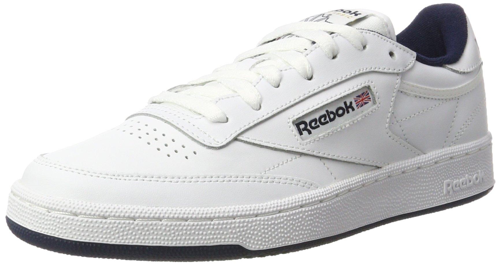 16b46cc4d8ace4 Galleon - Reebok Low Sneakers Men s Shoes AR0457 Club C 85 Size 45 White  Blue