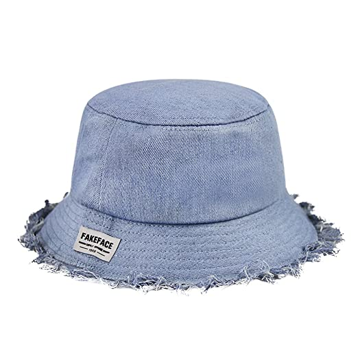 284207cf8f Fashion Denim Bucket Hat Fishing Hat Cap with Design Sunhat Packable Daily  Hat