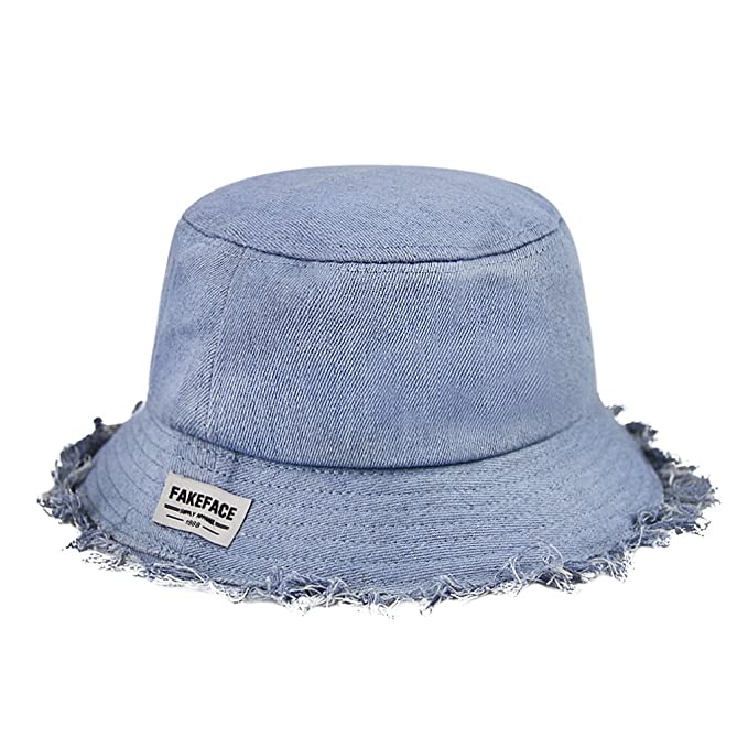 6c77292ce0c Fashion Denim Bucket Hat Fishing Hat Cap with Design Sunhat Packable Daily  Hat