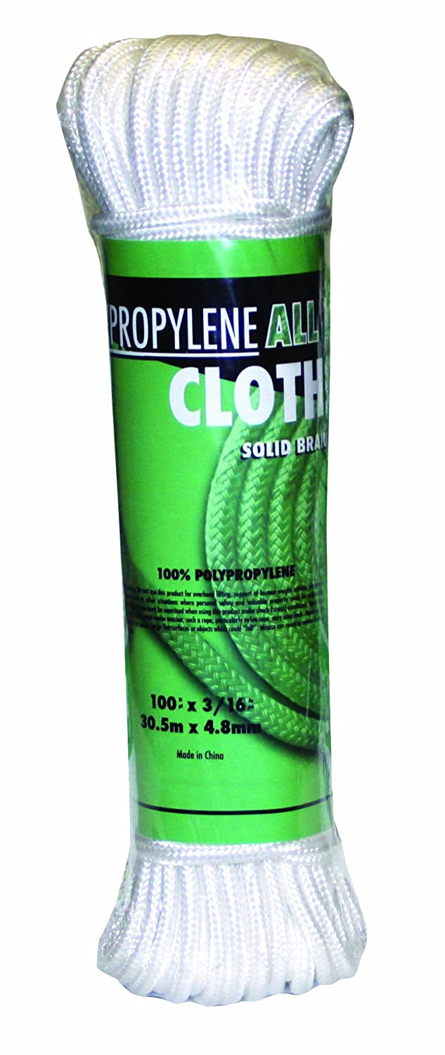 Rope King POCL-100 Poly All-Purpose Clothesline 3/16 inch x 100 feet