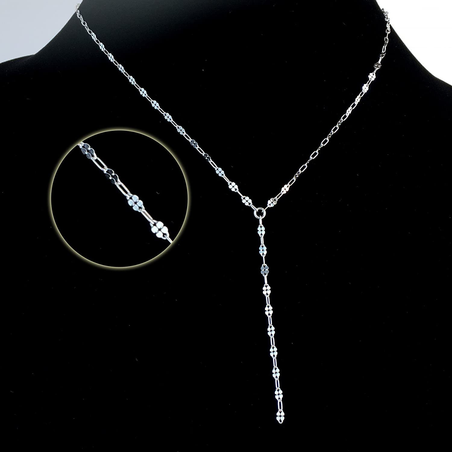 Sterling Silver Lariat Necklace - Y Necklaces for Women
