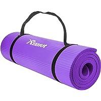 REEHUT Colchoneta de Yoga de NBR de Alta Densidad y Extra Gruesa de 12mm Diseñada para Pilates, Fitness y Entrenamiento…