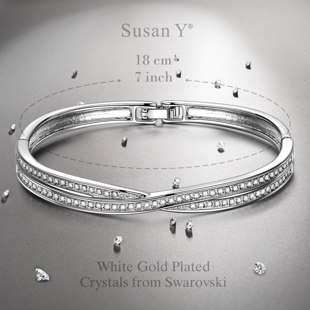 design innovativo 1a9bf b1193 Susan Y regalo di natale croce bracciale donna cristalli da ...