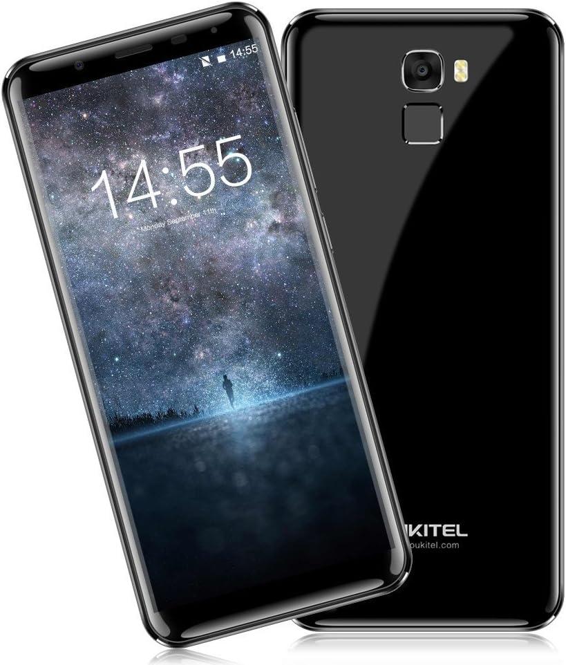 "Móvil Libre Barato,Oukitel K5000 Smartphone 4G Barato Sin Marcos Android 7.0 5000mAh 5,7""HD OctaCore SONY 16MP +SAMSUNG 21MP Cámara 4GB RAM+64GB ROM 2.5D Vídrio Huella Digital (Negro): Amazon.es: Electrónica"