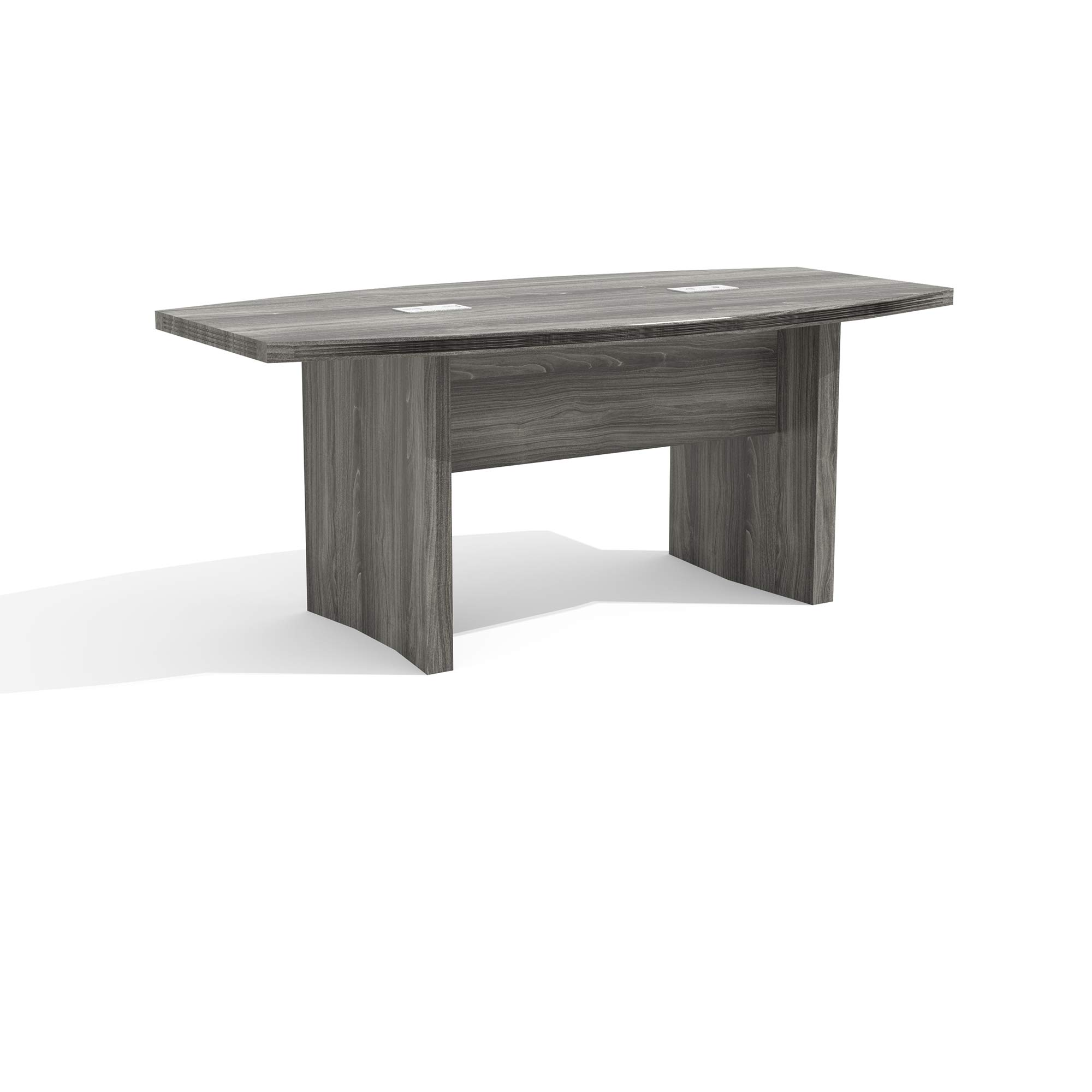 Mayline ACTB6LGS Aberdeen 6' Boat Shape Conference Table, Gray Steel Tf