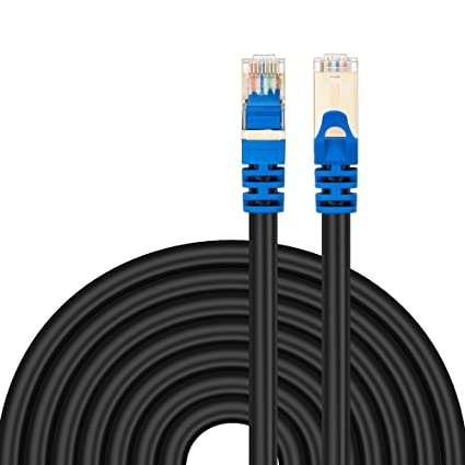 Amazon.com: Outdoor Cat 7 Ethernet Cable 50Ft, Tanbin Cat7 RJ45 ...