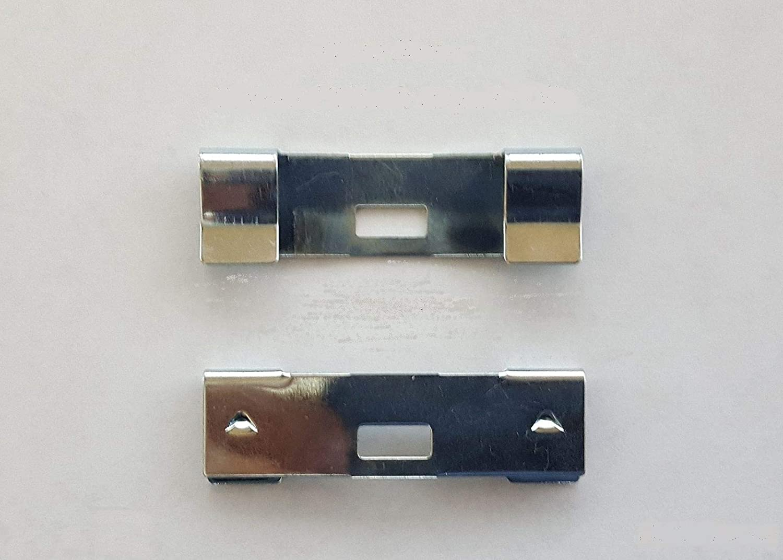 50 Pack Vertical Blind Vane Saver ~ Zinc Curved Repair Clips ~ Fixes Broken Holes dblinds1 50 Zinc Vane Savers