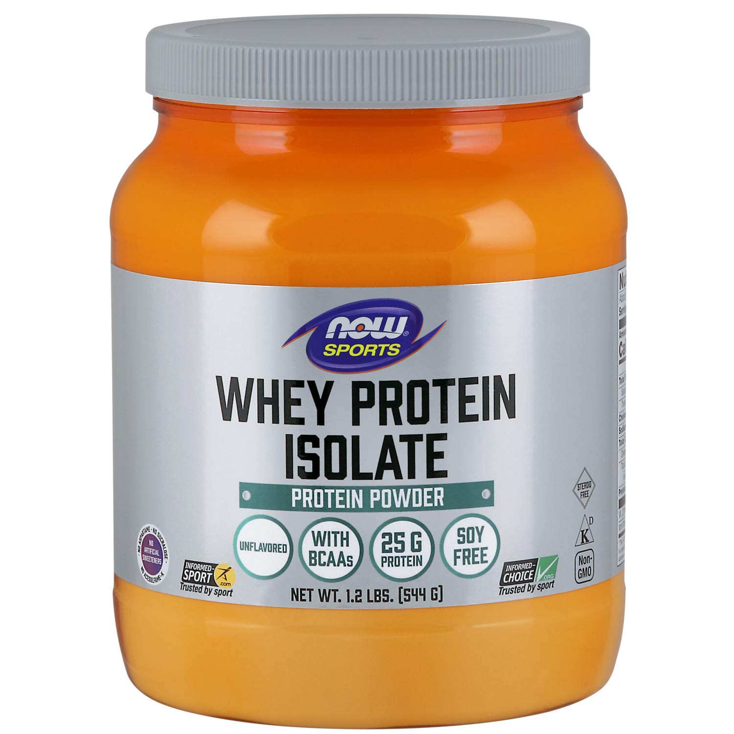 NOW Sports Nutrition, Whey Protein Isolate Powder, Unflavored, 1.2-Pound by Now Sports