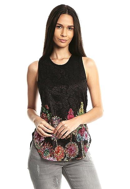 Desigual - Camisas - para Mujer 2000 Negro Large