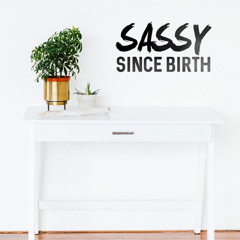 Vinyl Wall Art Decals - Sassy Since Birth - 12