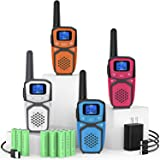 Rechargeable Walkie Talkies for Adults Kids, Long Range Portable FRS Two Way Radios with Batteries Charger 22 Channels…