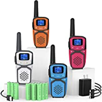 $61 » Rechargeable Walkie Talkies for Adults Kids, Long Range Portable FRS Two Way Radios with…