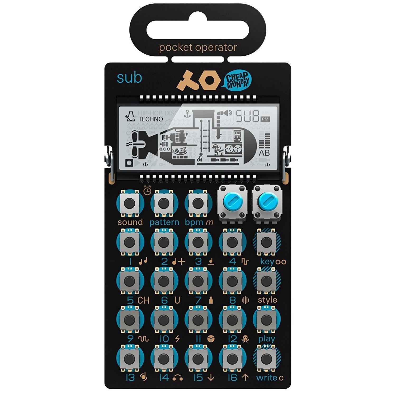 Pocket operatore po 14sub Synthersizer 16passo modello sequencer–nero/blu Teenage Engineering TE010AS014