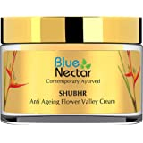 Blue Nectar Anti Ageing Flower Valley Face Cream for Oily Skin Ayurvedic with No Parabens SLS or Mineral Oil (Men, 50 gm)