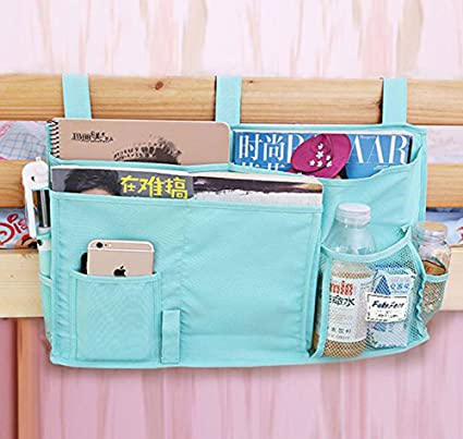 Amazon Com 8 Pockets Hanging Bedside Caddy Organizer For Dorm