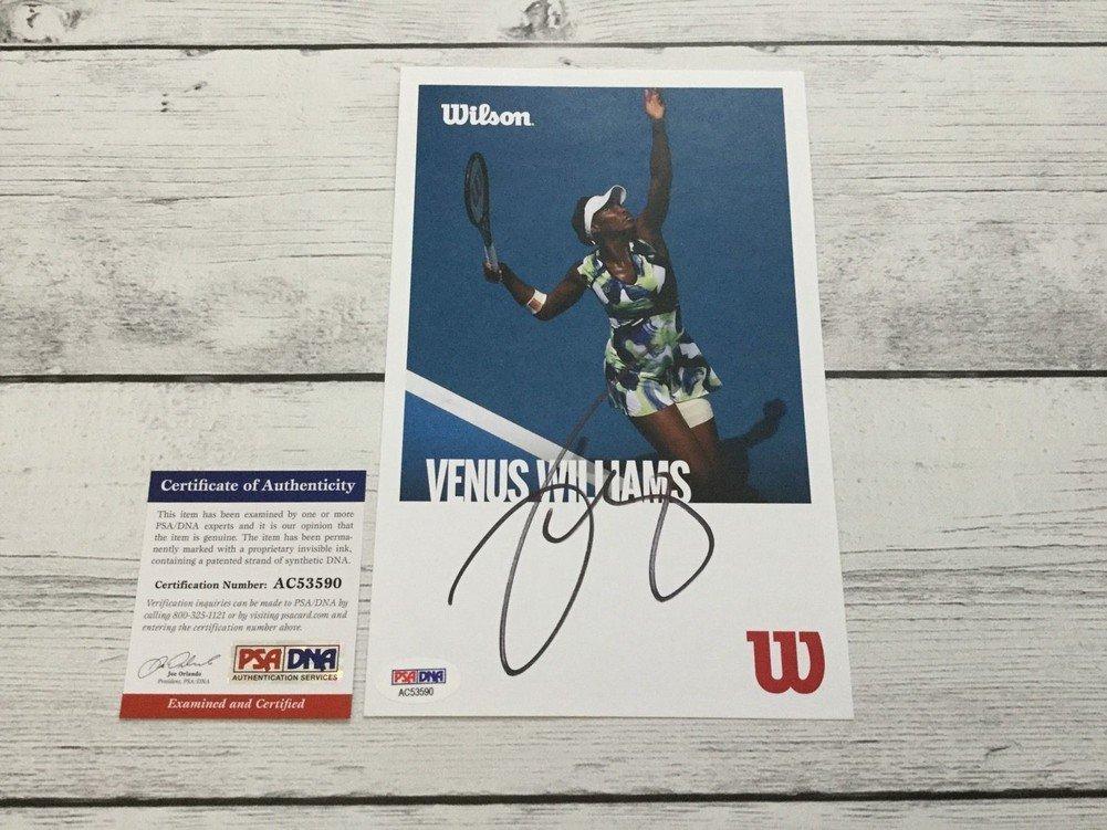 Venus Williams Autographed Wilson Postcard Psadna Authenticated