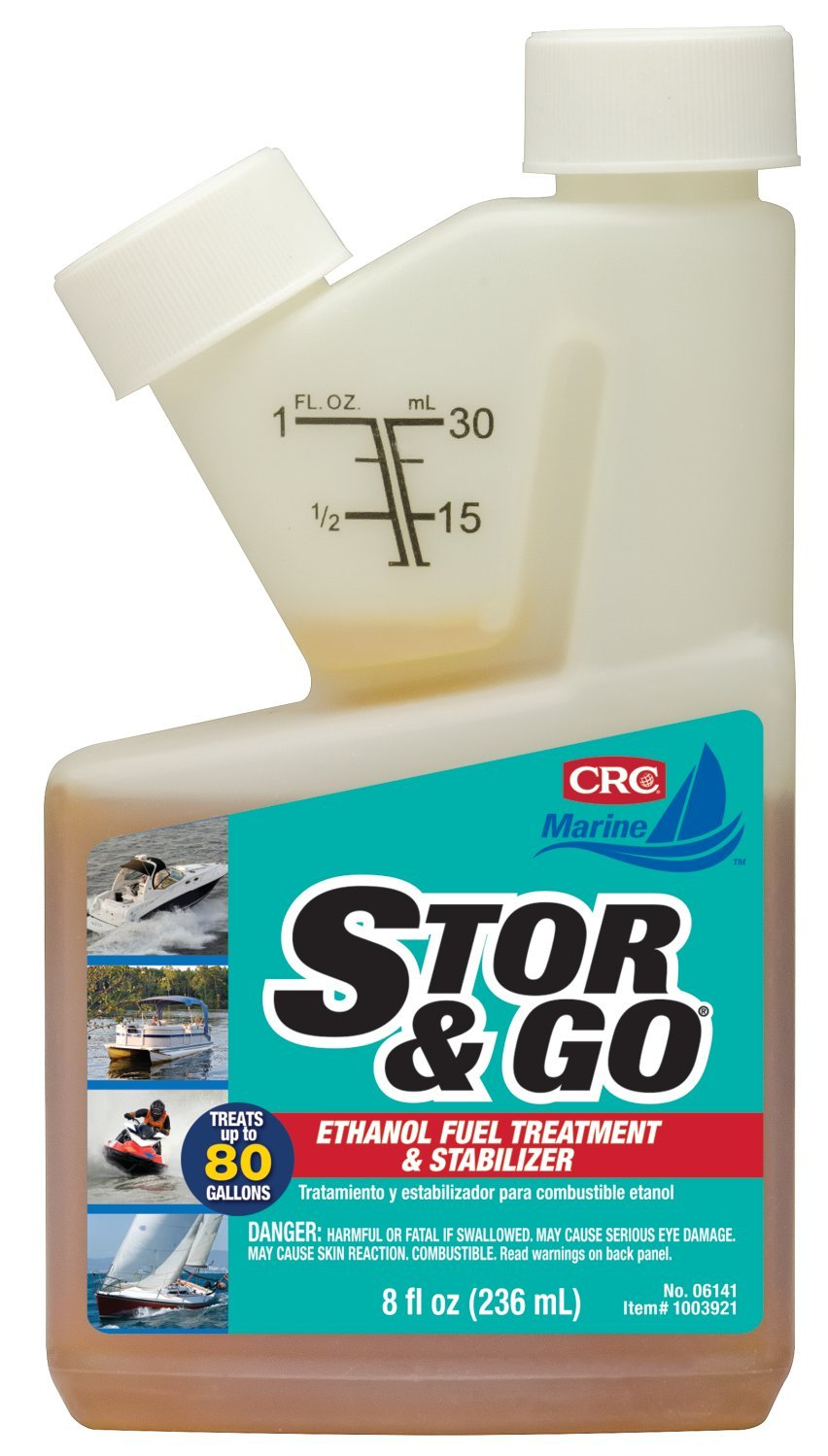 CRC 06141 STOR & GO Ethanol Fuel Treatment & Stabilizer, 8 oz