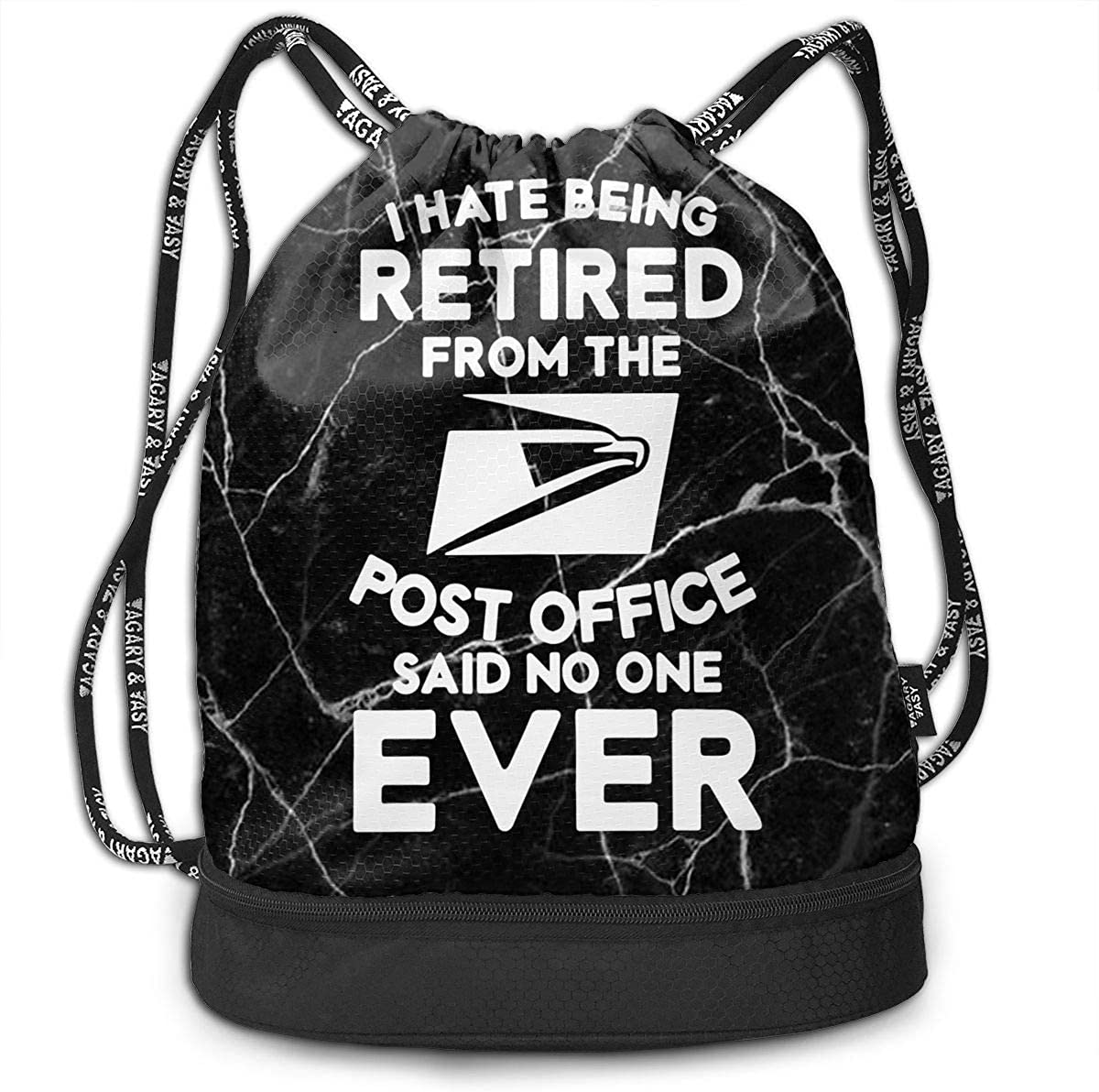 Drawstring Sport Bag I Hate Being Retired Post Office Men and Women Gym Sport Yoga Shoulder Bags