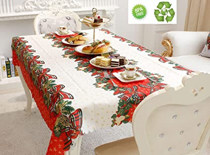 Delicieux Xmas Tablecloth Engineered Printed Fabric Table Cloth Thanksgiving  Celebration Dinner Table Cover Light Cotton Table Cloth