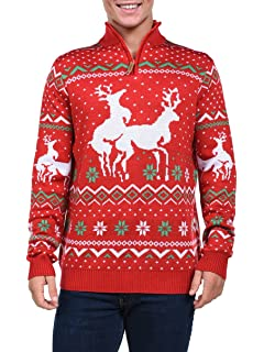 3e3a65bf521a Festified Ugly Christmas Sweater - Reindeer Threesome Sweater at ...