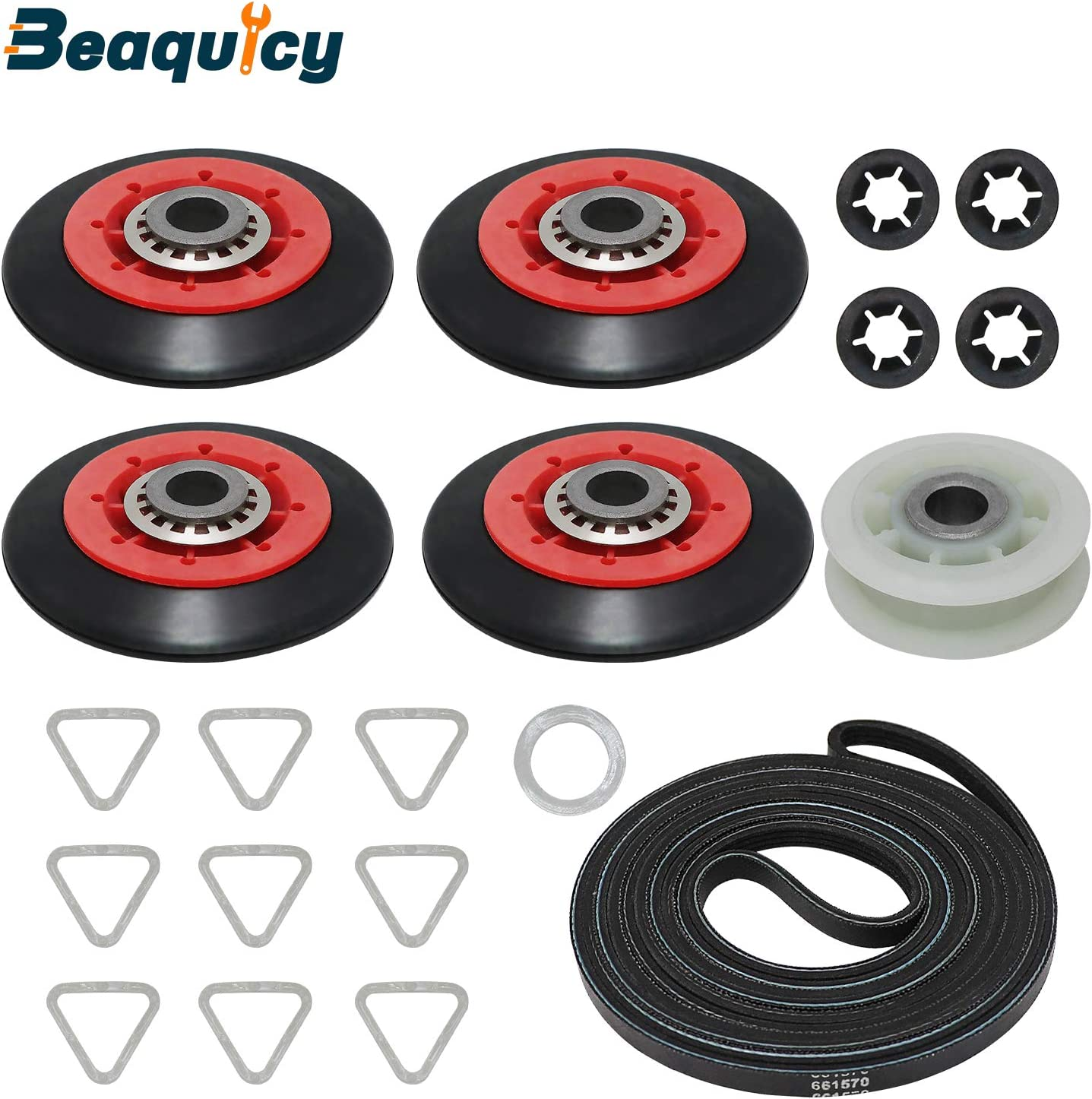 4392067 Dryer Maintenance Repair Kit by Beaquicy - Replacement for Whirlpool Kenmore Dryer