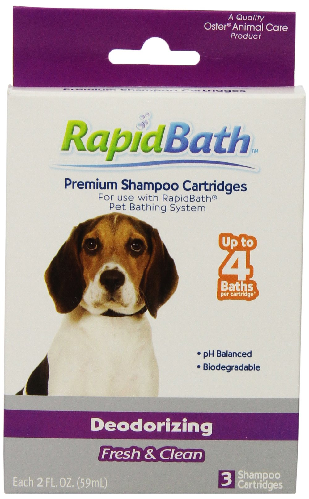 HydroSurge Rapid Bath Deodorizing Animal Shampoo Cartridges, 3/pack