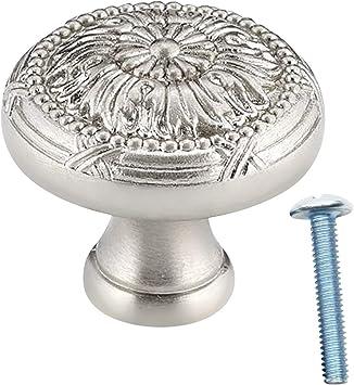 cupboard draws metal handle knobs shabby chic DIY finials 1x NEW chrome knob