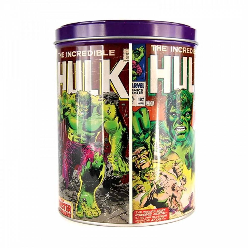OFFICIAL MARVEL COMICS HULK THOR SPIDERMAN METAL STORAGE CONTAINER TIN CADDY