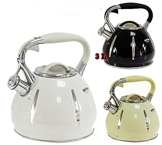 Hervidor de agua 3.0 L acero inoxidable camping/crema ...