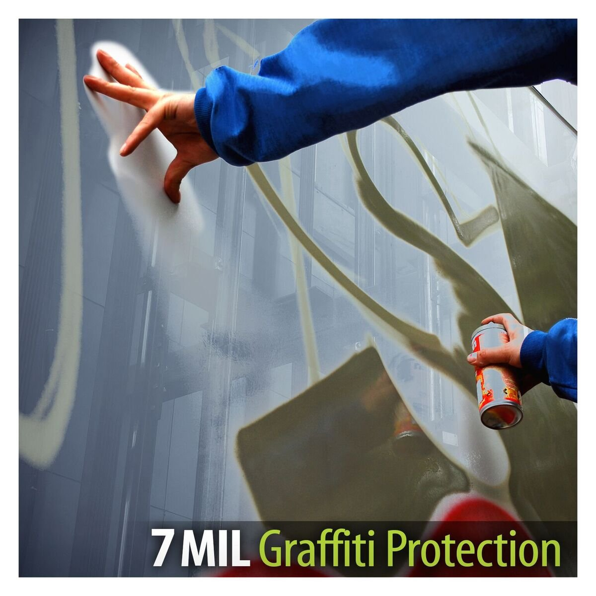 BDF AG7M Window Film Graffiti Protection 7 Mil Clear (60in X 25ft) by Buydecorativefilm (Image #5)