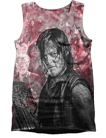 Ladies Vest Blood Daryl Dixon Walking Dead Official Tee T-Shirt Womens Girls (Small