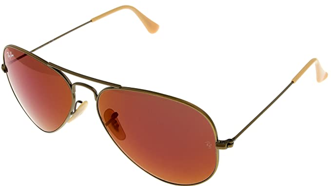 Amazon.com: Ray Ban anteojos de sol Aviator Oro Womens ...