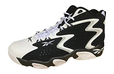 d5ada3d0314e Reebok Mobius Og Mu Mens White Black Leather Athletic Lace Up Basketball  Shoes 8