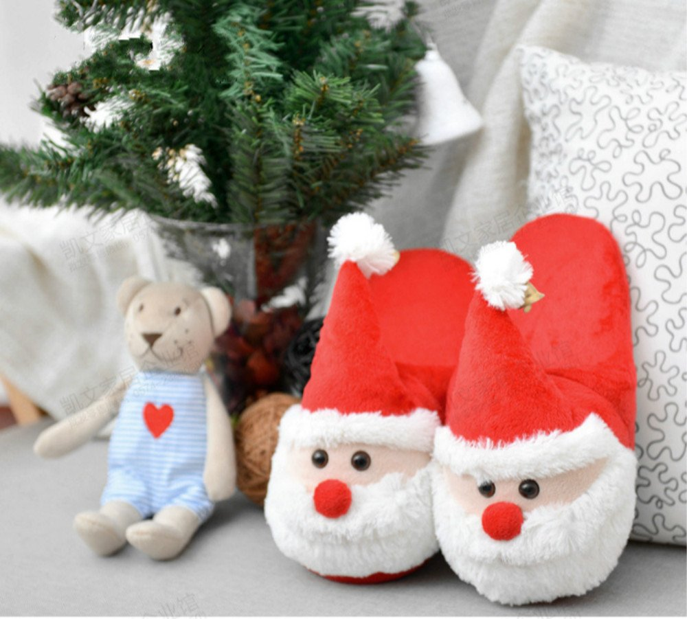 'Lword Santa Slippers Plush Slippers Christmas Present For Gift Colorfulword