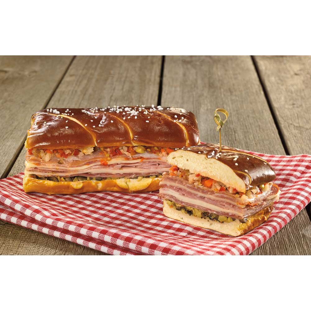 Bavarian Bakery Pre Sliced Sub Pretzel Roll, 4 Ounce - 40 per case.