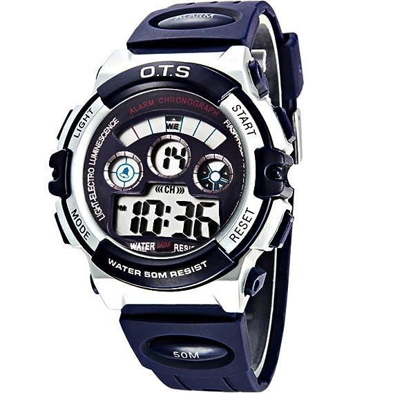 Kids Boys – Reloj digital resistente al agua Sports muñeca relojes para edades 5 – 15