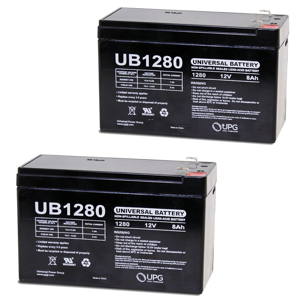 12V 8Ah Battery for LiftMaster LA-400-D Dual Swing Gate - 2 Pack